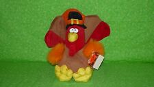 1995 Gibson Greetings TURKEY PLUSH Stuffed Animal Toy w/Tags Nylon Feet Beak 9""