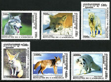 Cambodia 2143-2148, MNH. Wolves and Foxes, 2001