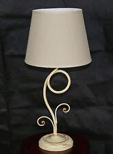 Lume paralume avorio antico luce led ferro battuto artigianale rustico art.646