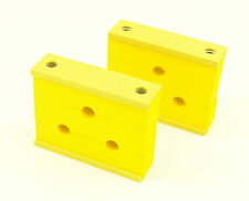 """Hydraulic pipe clamp clip - Triple 1/4"""" (6mm) - Pk.2 -  Hose Tube Aircraft part"""