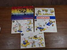 Lot de Catalogue MECCANO & Mode d'emploi Boite 2 3 4 Années 60/70 (?)