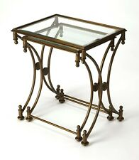 CHARTRES NESTING TABLES - SET OF TWO - ANTIQUE GOLD FINISH - FREE SHIPPING*