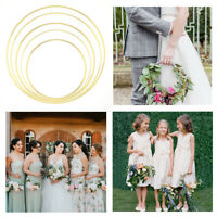 15-40cm Gold Floral  Hoop Metal Ring Flower Wreath Garland Wedding Hanging Decor