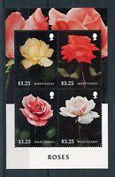 Montserrat 2015 MNH Roses 4v M/S Flowers Flora