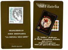 Italia scheda filatelica numero 1 Donna nell'Arte 1999