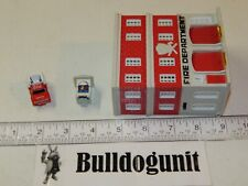 1989 Fire Deparment Station w/ Car Micro Machines City Scenes Defective Galoob