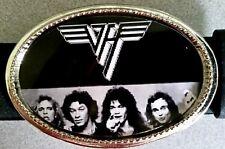 VAN HALEN Rock Group  Epoxy PHOTO MUSIC BELT BUCKLE NEW!