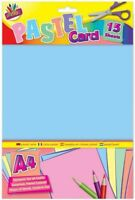 Pastel Card A4 Mixed Pastel Card 15 Sheets 160gsm 4 Shades A4 Printer Copie