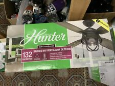 New! Hunter Barnes Bay 52 in. Led Indoor/Outdoor Natural Iron Ceiling Fan