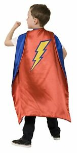 Child Boys Super Hero Royal Blue and Red Reversible Cape