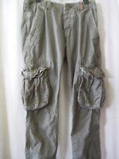 "Superdry XS 28"" Waist True Khaki Slim Core Cargo Lite Trousers"