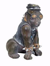 Punk Rocker Biker Gorilla Monkey Ape Ceramic Ornament Figurine Animal Spikes