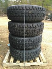 4 ea. Wrangler MT Tire/Rim 37x12.50xR16.5, 8 x 6.5 Lug, M998 HMMWV Humvee 70-79%