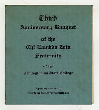 1926 PENN STATE Chi Lambda Zeta Program STATE COLLEGE University PENNSYLVANIA PA