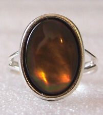 Genuine Black Lip Mother of Pearl Shell Adjustable Ring Size M-P in Gift Box