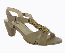 Sandali e scarpe stiletto beige per il mare da donna