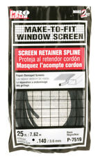 Prime-Le Alumum and Fiberglass Screeng Screen Sple 1/8 W x 25ft L Black Vyl