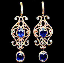 Chandeliers with blue Sapphire and zirconia,Rose gold from 925er Sterling silver