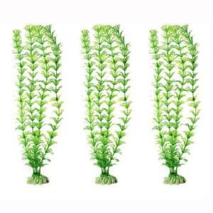 5 Pcs Fake Artificial Green Grass Ornament for Aquarium Fish Tank Decor 12.5''
