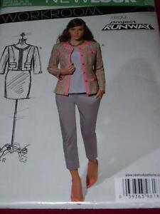 NEW LOOK #A6188 - LADIES WAIST or HIP LENGTH BUTTON DOWN JACKET PATTERN  8-18 uc