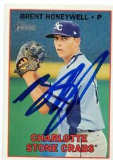Brent Honeywell Tampa Bay Rays 2016 Topps Heritage Minors Signed Card