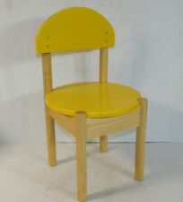 Lego Wood Yellow Kids Play Room Table Desk Chair Small Furniture Child Seat