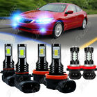 For 2013 2014 2015 Honda Accord Combo Led Headlight High And Low Beam And Fog Light Kit