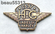 LADIES OF HARLEY DAVIDSON OWNERS GROUP HOG LOH 1997 VEST JACKET HAT PIN 97