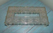 Vintage MCM Clear Starburst Acrylic Lucite Kleenex Tissue Box Holder
