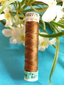 478B / Beautiful Coil Pure Wire Silk Drawstring Gutermann Brown N° 887