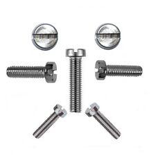 50 Stk. Zylinderschrauben mit Schlitz 5 mm DIN 84 M 5 x 100 V2A -Profi Qualität