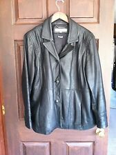 WOMENS WILSONS BLACK LEATHER JACKET WITH THINSULATE LINING XXL 2XL