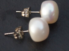 Perlen-Ohrschmuck im Ohrstecker-Stil mit echten Schraubverschluss