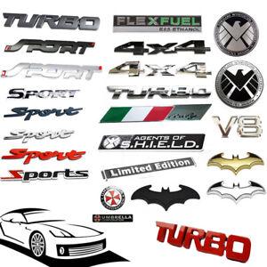 Universal Car Truck SUV Metal 3D Emblem Badge Sticker Fender Decal Accessories