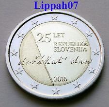 Slovenië speciale 2 euro 2016 Onafhankelijkheid / Independency UNC