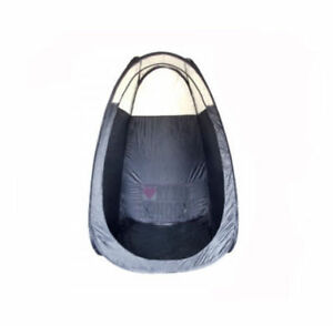 Quality made- Spray tan Pop Up Tanning tent in black & Free spray tan solution
