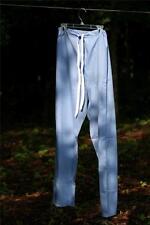 12) Lg NEW Frham SCRUB Draw String PANTS UNISEX nwot BLUE Cotton  SlackS