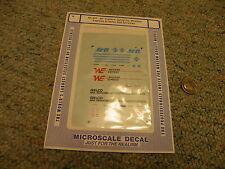 Microscale decals N 60-341 40' trailers Santa Fe Western Express Geico Rail  D20