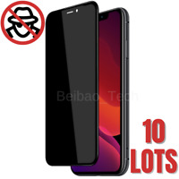 Wholesale For iPhone 11 XR X 8 Privacy Full Tempered Glass Screen Protector Lot
