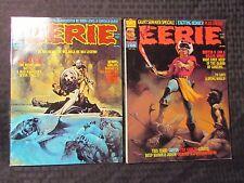 1975 EERIE Warren Horror Magazine LOT of 2 #66 FVF 68 FVF Sanjulian Cover