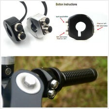 CNC Self Latching Switch Motorcycle Handlebar 3 Buttons Latch Cafe Racer Custom