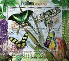 Timbres Papillons Burundi 1576/9 ** année 2012 lot 3130 - cote : 18,00 euros