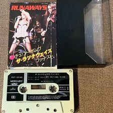 THE RUNAWAYS Debut 1st JAPAN CASSETTE TAPE PCT-12143  w/Slip Case(damaged)