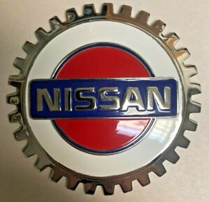 New Logo Car/Truck Grill Grille Badge For Nissan- Chromed Brass- Great Gift!