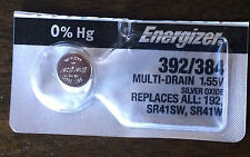 Energizer 392 384 (SR41SW) (SR41W) (Button Cell Watch 1.55V Battery 1 Pc