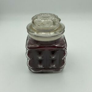 Partylite Scented Wax-Filled Glass Candle Mulberry Scent P1129 New In Box