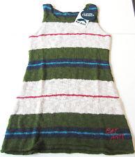 OA Strick Kleid Gr.116 Sanetta NEU m.E dünn grün weiß blau Tunika kinder