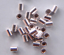 Crimps 2mm Tubular Beads Sterling Silver 43040 (20) Soft Flex Brand Softflex