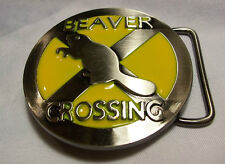 NEW SEX SEXUAL  INNUENDO  HUMOR FUNNY BEAVER CROSSING BELT BUCKLE