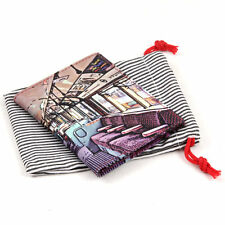 Travel Pass/Oyster Card Holder - Printed Leather  - '1930's Tube Train'